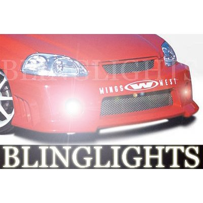 1996 1997 1998 1999 2000 Honda Civic Wings West Body Kit Bumper Fog Lamps Driving Lights