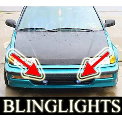 1989 1990 1991 Honda Civic Si Hatch Xenon Foglamps Foglights Fog Lamps Driving Lights Kit