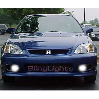 1999 2000 Honda Civic Coupe Si Xenon Foglamps Foglights Fog Lamps Driving Lights Kit