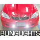 2001 2002 2003 2004 2005 Honda Civic Coupe Hatch Sedan Xenon Foglamps Fog Lamps Driving Lights Kit