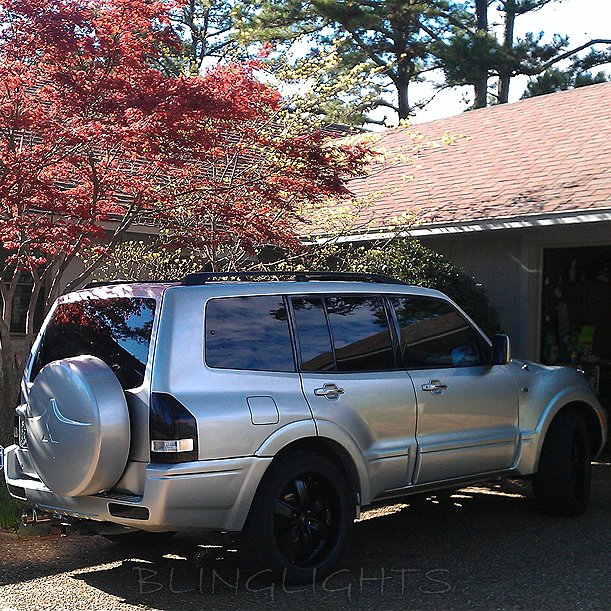 Mitsubishi Pajero Tinted Smoked Taillamps Taillights Tail Lamps Lights Protection Overlays Film