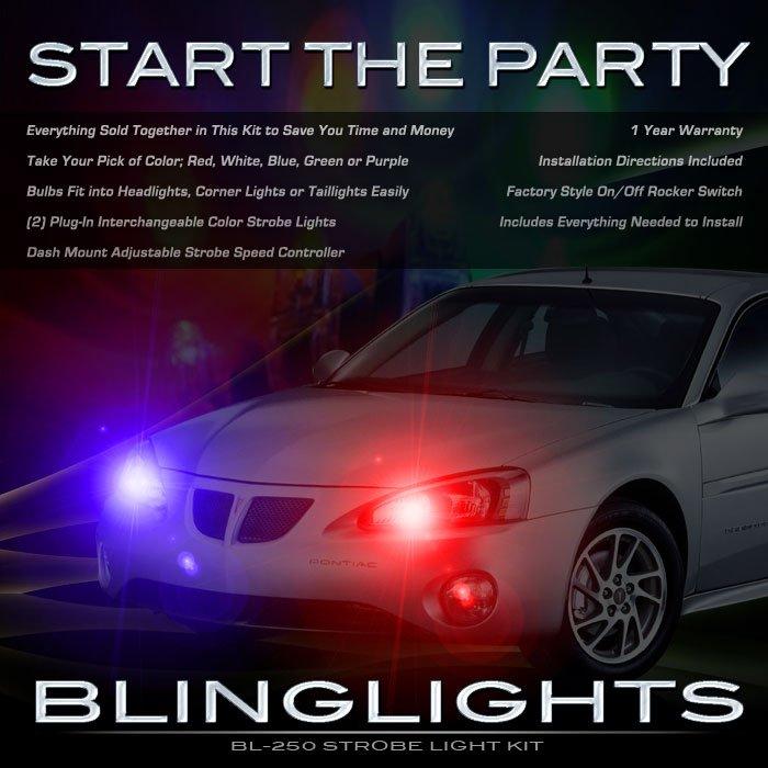 Pontiac Grand Prix Police Strobes Light Kit for Headlamps Headlights Head Lamps Strobe Lights
