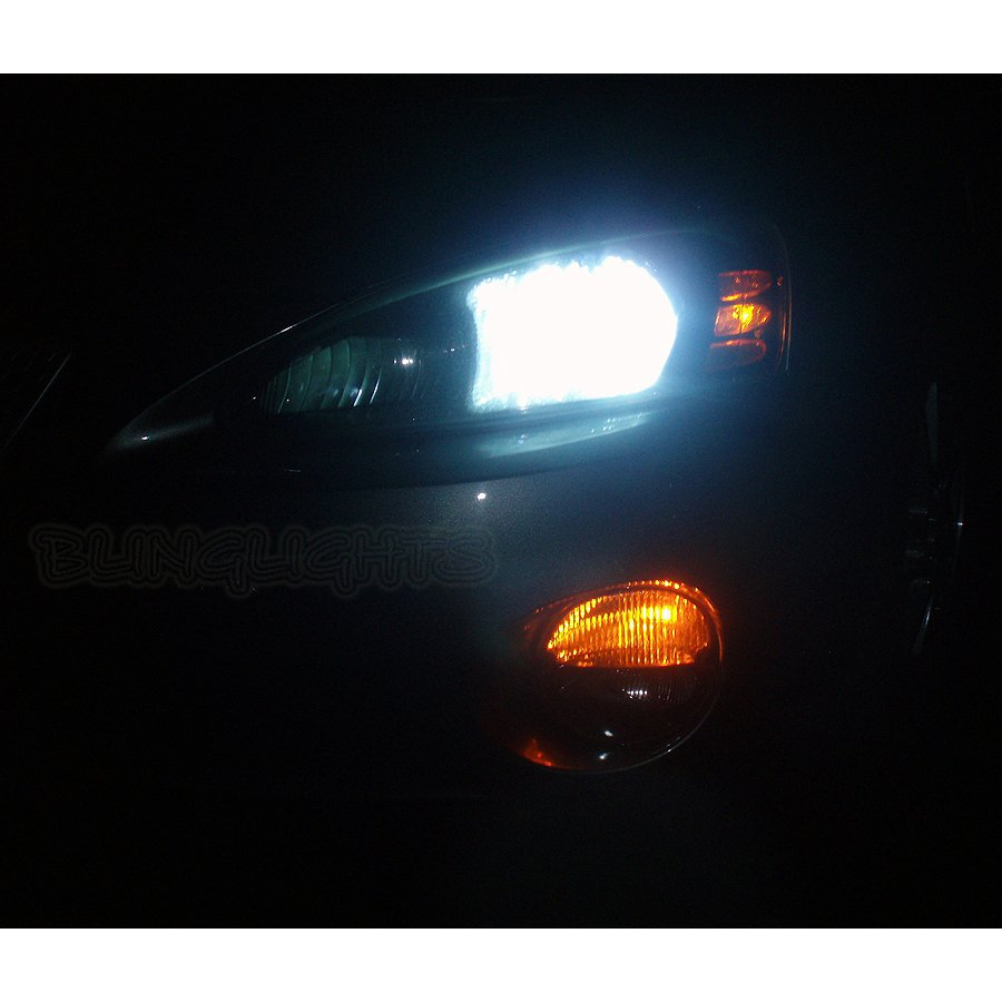 Pontiac Grand Prix Bright White Light Bulbs for Halogen Headlamps Headlights Head Lamps Lights