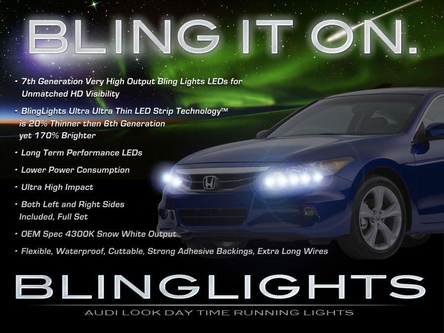 Honda Accord LED DRL Head Light Strips Day Time Running Lamp Kit