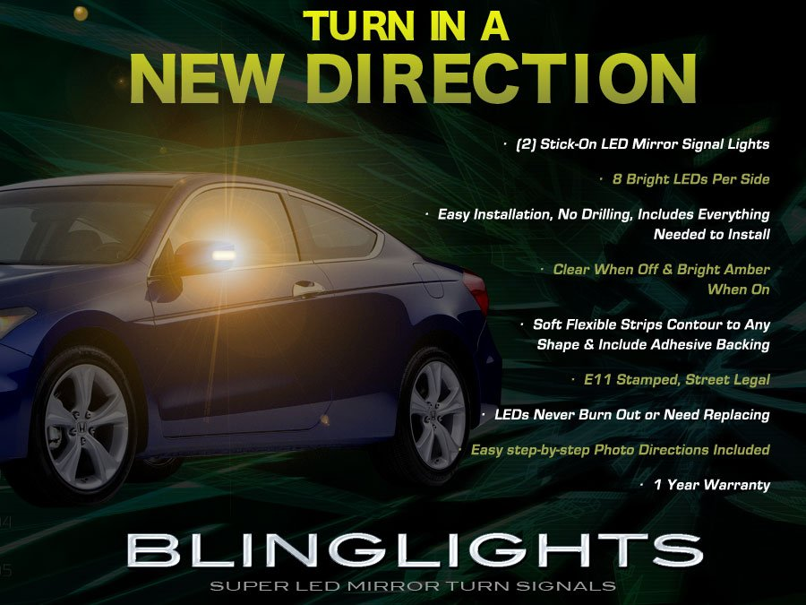 Honda Accord LED Side View Mirror Turnsignal Lights Turn Signal Lamps Mirrors LEDs Signalers