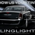 2011 2012 2013 Chrysler 300 300S 300C Tinted Smoked Taillamps Taillights Protection Overlays Film
