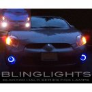 2006 2007 2008 Mitsubishi Eclipse White Halo Fog Lamps Driving Lights Kit