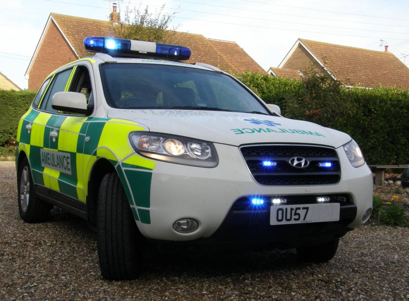 Hyundai Santa Fe Strobe Police Lights for Headlamps Headlights Head Lamps Lights Strobes
