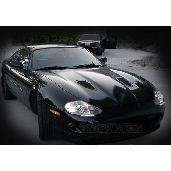 Jaguar XK XK8 XKR LED DRL Light Strips for Headlamps Headlights Head Lamps Day Time Running Lights