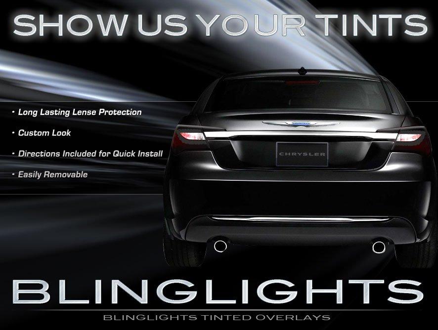 Chrysler 200 Smoked Tail Lamp Light Overlays Smoked Film Protection Kit