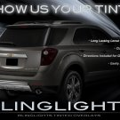 Chevrolet Chevy Equinox Tint Smoke Overlays Film for Taillamps Taillights Tail Lamps Lights