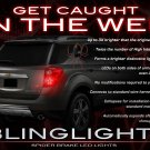 Chevy Equinox Custom LED Tail Lamps Light Bulbs Set Chevrolet Taillamps Taillights Lighting