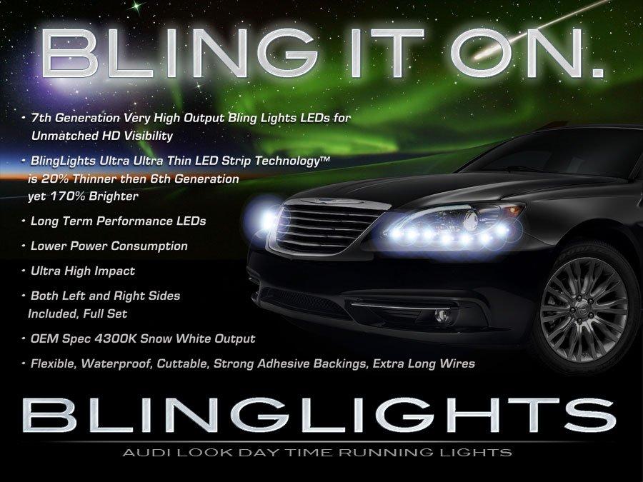 Chrysler 200 LED LED DRL Head Light Strips Day Time Running Lamp Kit