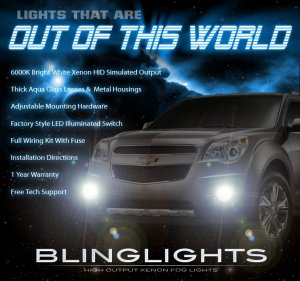 2010-2014 Chevy Equinox Fog Lamp Driving Light Kit ls 1lt 2lt ltz Chevrolet Xenon Foglamps Foglights