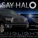 2007-2013 Toyota Tundra Halo Fog Lamp Driving Light Kit Angel Eye Foglights Foglamps Drivinglights