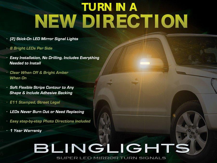 Suzuki Grand Vitara LED Side View Mirror Turnsignal Lights Turn Signal Mirrors Accent Signaler Lamps