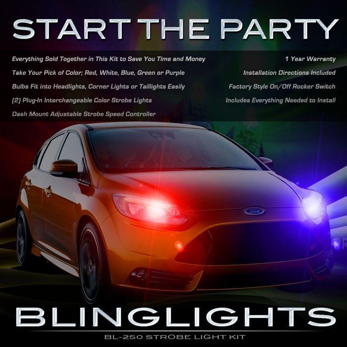 Ford Focus Police Strobes Pursuit Lights for Headlamps Headlights Head Lamps Strobe Light Kit