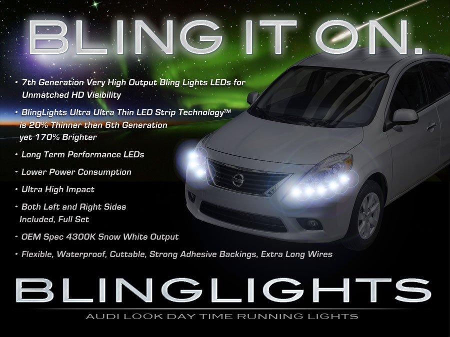 Nissan Versa LED DRL Head Lamp Light Strips Day Time Running Kit