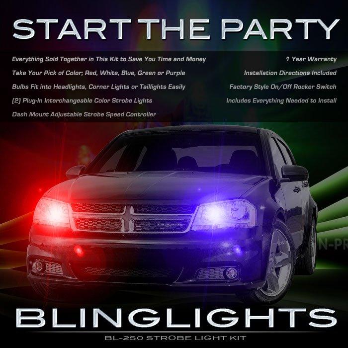 Dodge Avenger Strobe Lights for Headlamps Headlights Head Lamps Police Strobes Kit