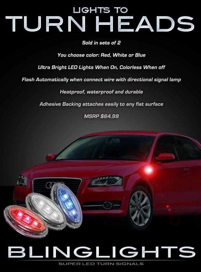 Audi A3 Side LED Marker Turnsignal Lights Accent Turn Signal Lamps Accents Markers Signalers