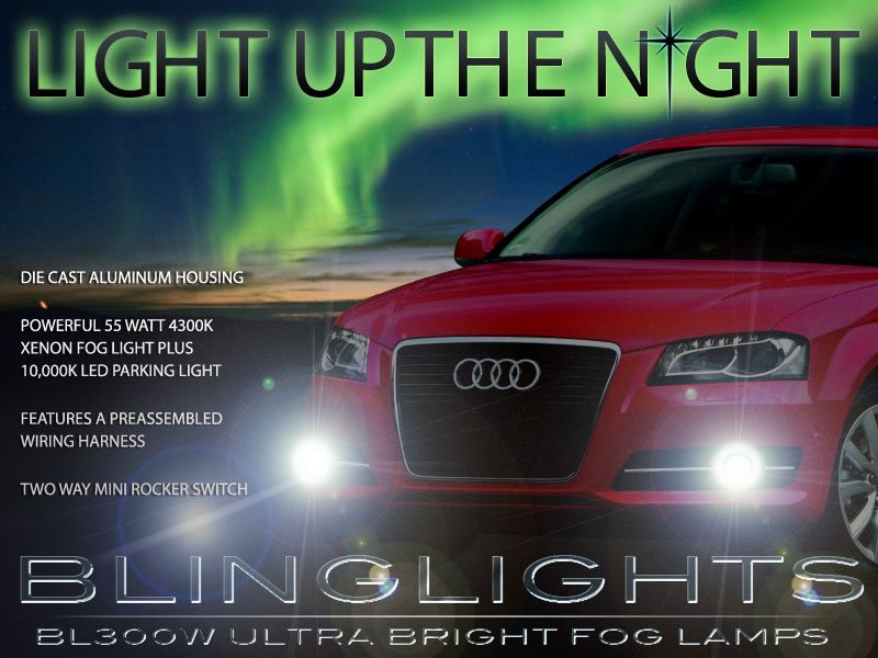 2011 2012 2013 Audi A3 Xenon Foglamps Foglights Fog Lamps Driving Lights Drivinglights Kit