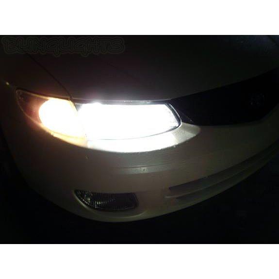 1999-2008 Toyota Solara Bright White Upgrade Light Bulbs for Headlamps Headlights Head Lamps Lights