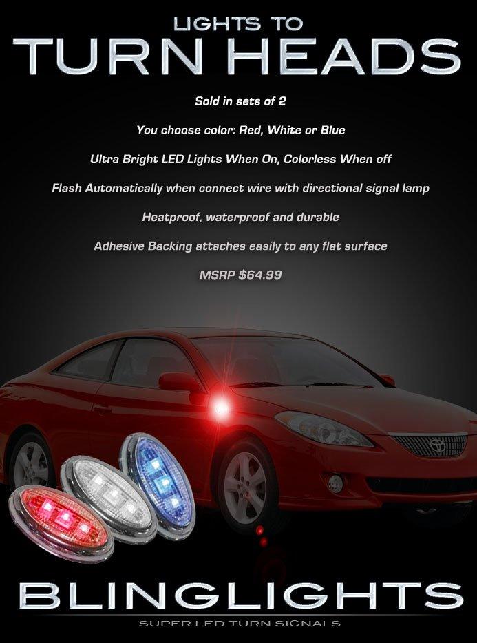 Toyota Solara LED Side Marker Turnsignal Accent Lights Turn Signal Markers Signalers Accents Lamps