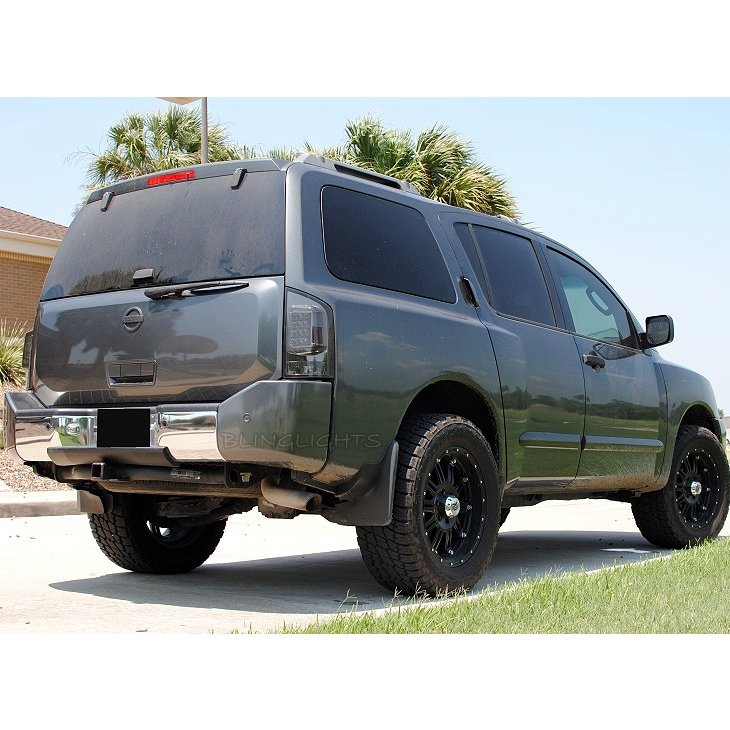 Nissan Armada Murdered Out Taillamp Covers Taillight Tinted Overlays