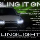 Fiat Sedici LED DRL Light Strips for Headlamps Headlights Head Lamps Day Time Running Strip Lights