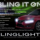 2012 2013 Nissan Tiida LED DRL Strips Headlamps Headlights Head Lamps Day Time Running Strip Lights
