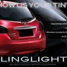 2012 2013 Nissan Tiida Hatchback Tint Smoke Overlays for Taillamps Taillights Tail Lamps Lights