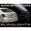 Nissan Versa Sedan Tinted Tail Lamp Light Overlays Smoked Film Protection Kit