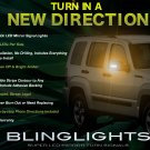 Jeep Liberty LED Side Mirror View Turnsignals Accent Lights Mirrors Turn Signalers Lamps Signals