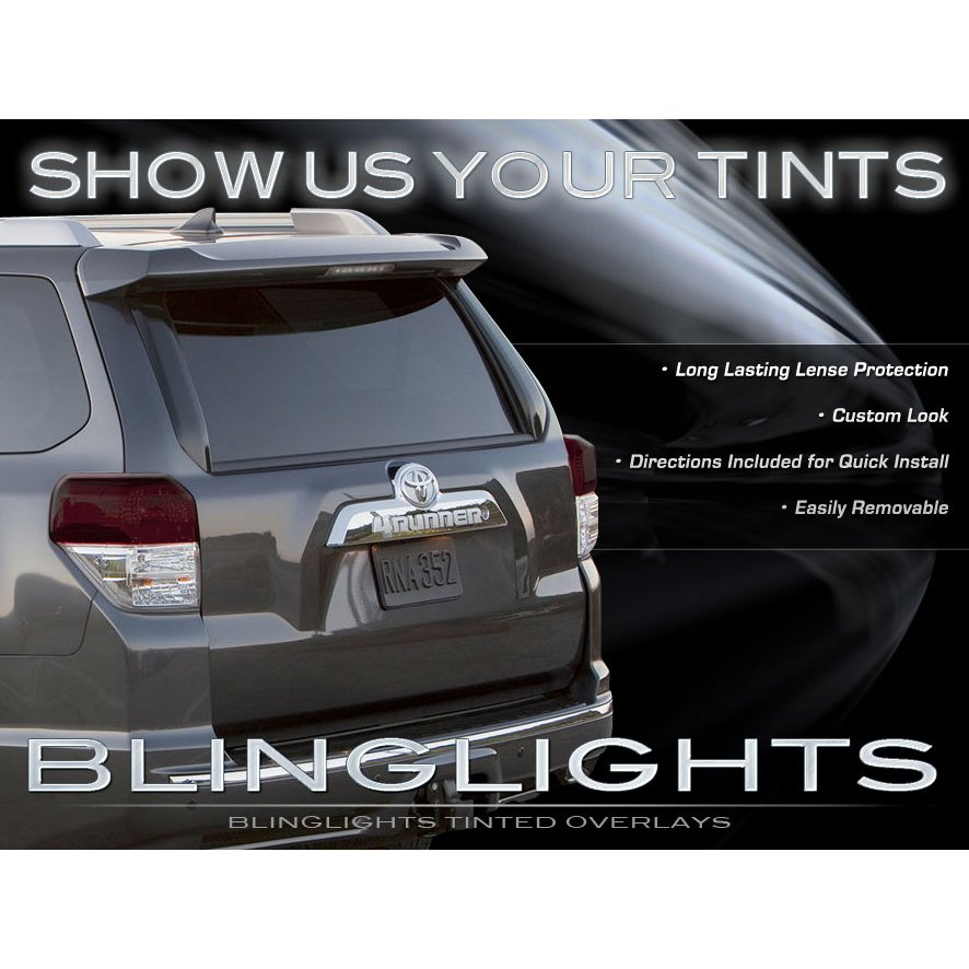 2010-2013 Toyota 4Runner Tinted Smoke Tail Lamps Lights Overlays Film Protection