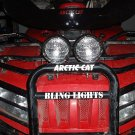 Arctic Cat ATV Auxilliary Brushguard Lights Bumper Rack Bar Lighting Driving Lamps Trail Light Kit