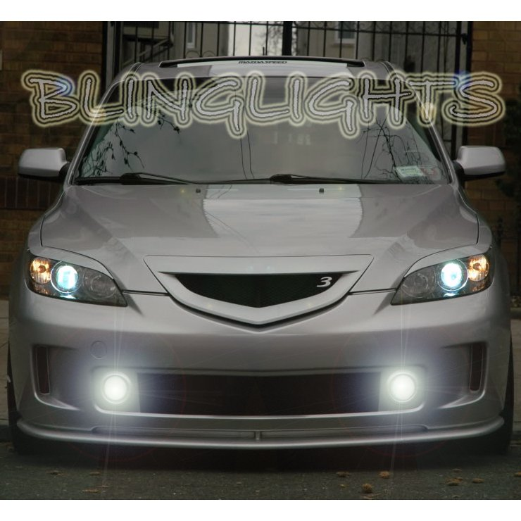 2004 2005 2006 2007 2008 Mazda3 MazdaSpeed3 Aero Design Front Bumper Fog Lamps Lights Foglamps Kit
