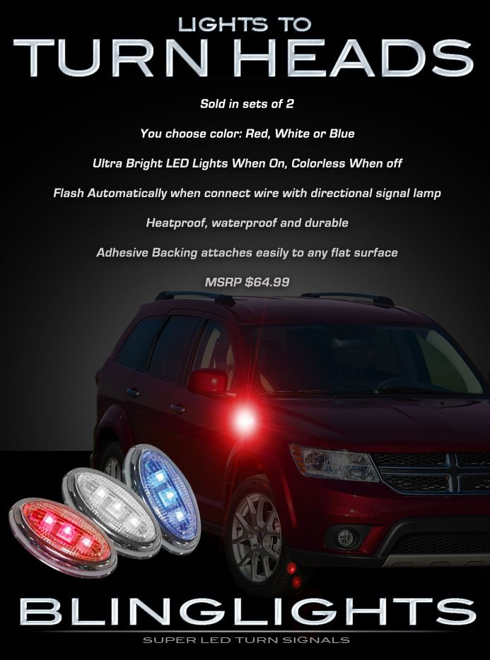 Dodge Journey Side LED Marker Turnsignals Accent Lights Turn Signalers Accents Lamps Markers Signals