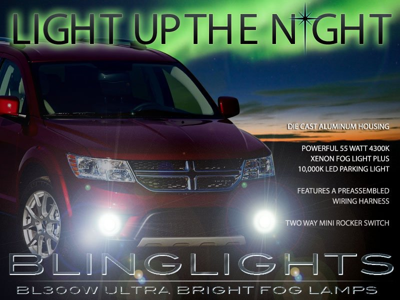 2011-2017 Dodge Journey Fog Lamps Driving Lights Kit
