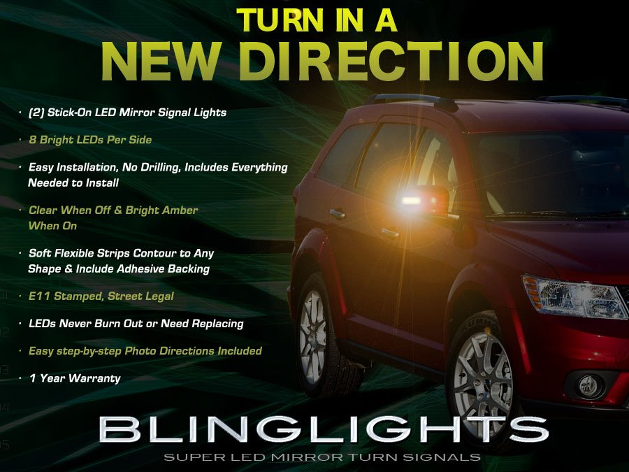 Dodge Journey Side LED Mirror Light Turnsignal Lamp Kit Set