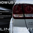 Dodge Journey Tint Smoke Overlays Protection Film for Taillamps Taillights Tail Lamps Lights