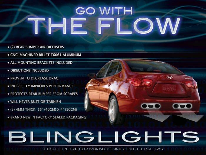 2003-2012 Hyundai Avante Performance Aero Rear Exhaust Bumper Body Diffuser Panels Kit