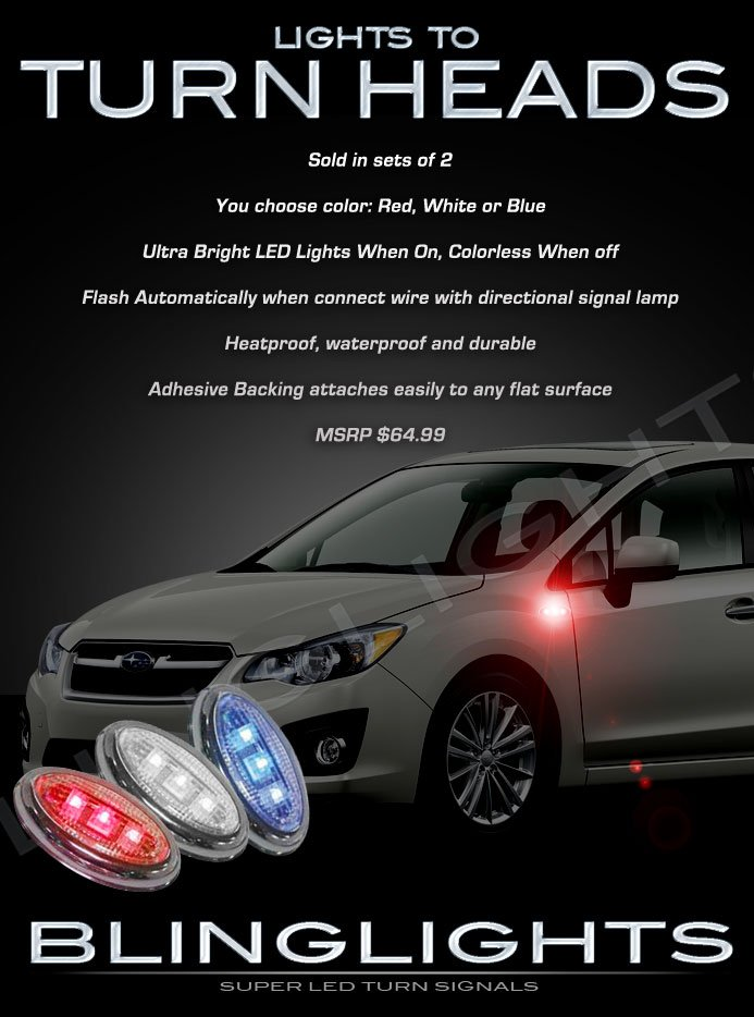Subaru Impreza Side LED Marker Turnsignal Lights Accent Turn Signal Lamps Signaler Markers