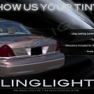 Mercury Grand Marquis Tinted Smoked Taillamps Taillights Overlays Film Protection