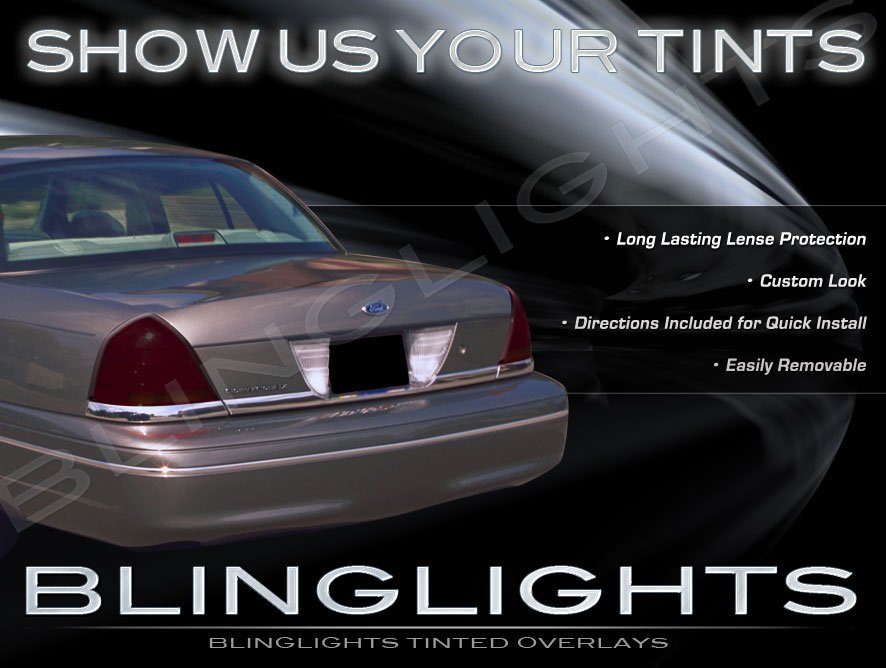 2003 2004 Mercury Marauder Tinted Smoked Overlays Film for Taillamps Taillights Tail Lights Lamps