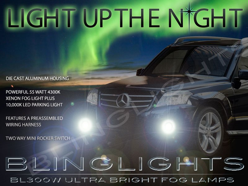 2010 2011 2012 Mercedes-Benz GLK350 GLK 350 Fog Lamps Driving Lights Foglamps Foglights Kit