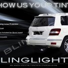 Mercedes-Benz GLK350 GLK Tinted Smoked Protection Overlays Taillamps Taillights Tail Lamps Lights