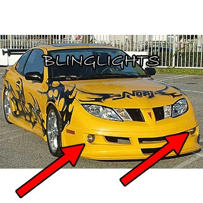 2003 2004 2005 Pontiac Sunfire Razzi Body Kit Fog Lamps Bumper Driving Lights Foglamps Foglights