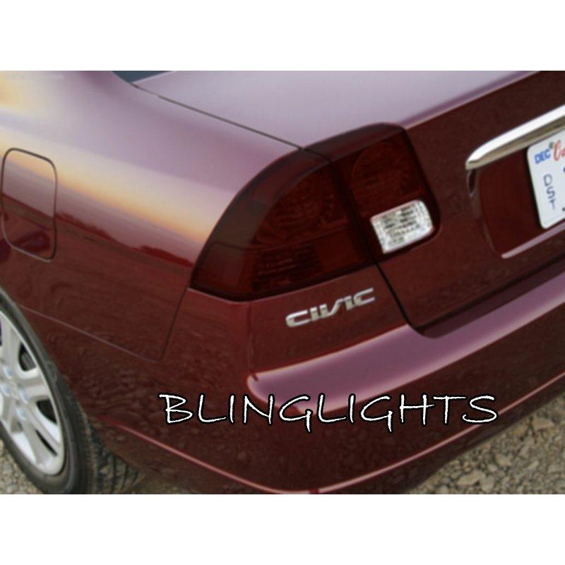 2001-2005 Honda Civic Sedan Smoke Tint Tail Lamp Lights Overlays Film Protection