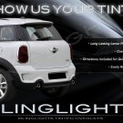 MINI Countryman Tinted Tail Lamp Light Smoked Overlays Kit Protection Film R60