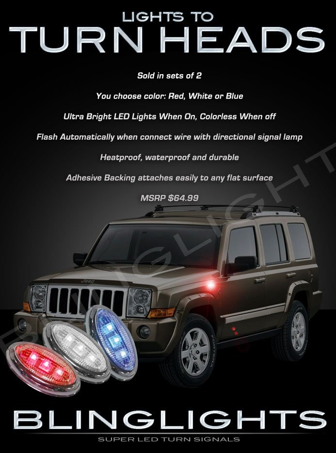 2006-2010 Jeep Commander LED Markers Accents Turnsignals Lights Turn Signals Lamps Signalers LEDs